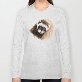 Ferret portrait Long Sleeve T-shirt