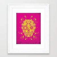 sugar skull Framed Art Prints featuring Sugar Skull by Farnell