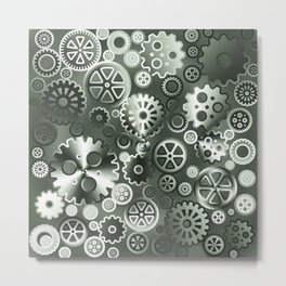 Steel gears Metal Print