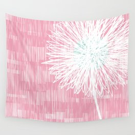 Pink Doodle Floral by Friztin Wall Tapestry