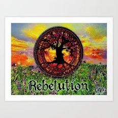 Rebelution Tree of Life Bright Side of Life Beautiful Sunrise/Sunset Landscape Art Print
