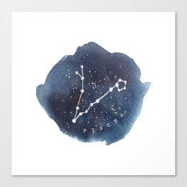 pisces constellation zodiac Canvas Print