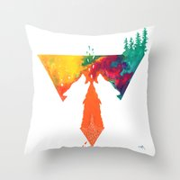 wolves Throw Pillows featuring Wolves by Ricardo Moody