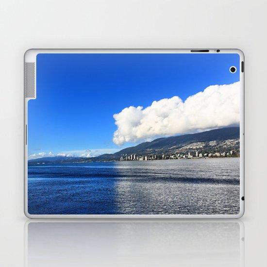 Blue vs. White Laptop & iPad Skin