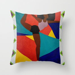 Yoga Dancer Throw Pillow