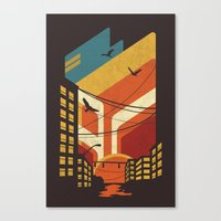 street art Canvas Prints featuring Street by The Child
