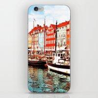 denmark iPhone & iPod Skins featuring Copenhagen, Denmark by Philippe Gerber