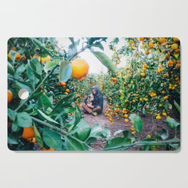 Valencian Orange Grove Cutting Board