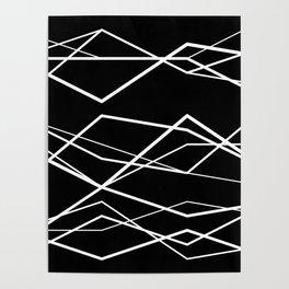 Geometric Pattern 68 (zigzag waves) Poster