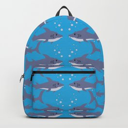 Swimming Shark Pattern Backpack