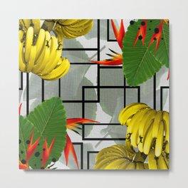 Tropical Squares Metal Print