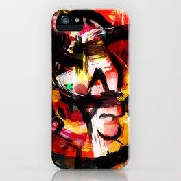 Abstraction Lyrique avec vitesse iPhone Case