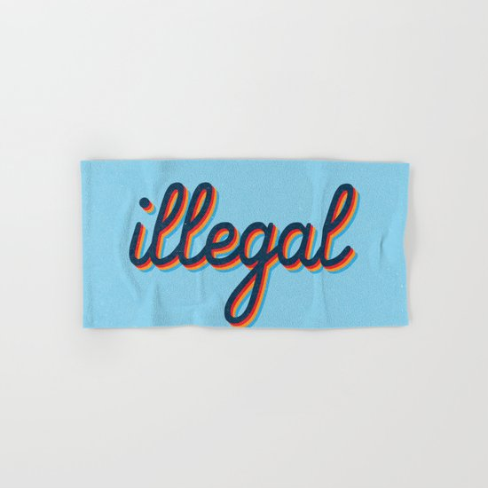 Illegal - blue version Hand & Bath Towel