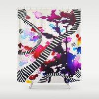 splash Shower Curtains featuring Splash by DuckyB