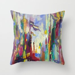 A Day in Chicago Throw Pillow