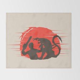 Ash vs Aliens Throw Blanket
