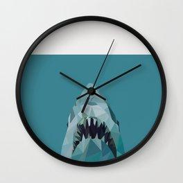shark graphic | feyerabend illustration Wall Clock