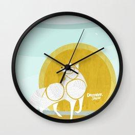WOLF MOON RISING Wall Clock