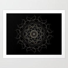 mandala - floral 2 Art Print