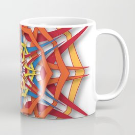 abstract mandala harsh sunlight Coffee Mug