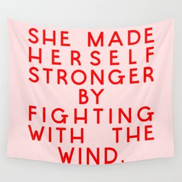 She Made herself Strong Wall Tapestry