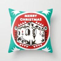 kiki Throw Pillows featuring Kiki by Polypop