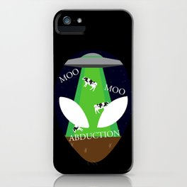 Moo Moo Abduction iPhone Case