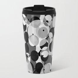 Black, Gray, and White Travel Mug