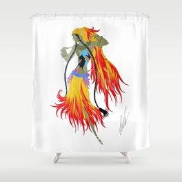 "1920's Art Deco Illustration ""Gypsy Dancer"" Shower Curtain"
