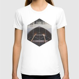 Peace of Mind Boat - Geometric Photography T-shirt