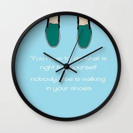 Walk Your Own Way Wall Clock