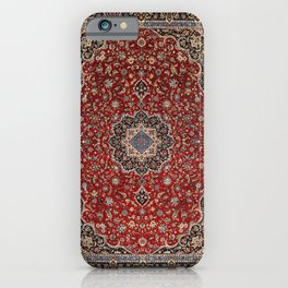 N63 - Red Heritage Oriental Traditional Moroccan Style Artwork iPhone Case