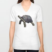 tortoise V-neck T-shirts featuring Tortoise by Ben Geiger
