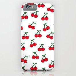 Cherries 1 (on white) iPhone Case