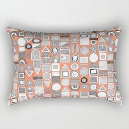 frisson memphis bw orange Rectangular Pillow