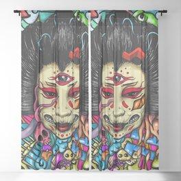 Gueisha Doodle Sheer Curtain