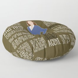 Agent Carter Floor Pillow