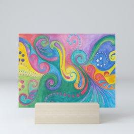 Swirls N Whirls Mini Art Print