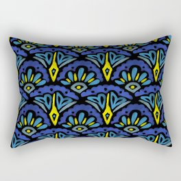 Watercolor Abstract Pattern Rectangular Pillow