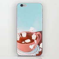 drink iPhone & iPod Skins featuring Drink by Joelle Murray