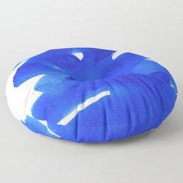 Superwatercolor Blue Floor Pillow