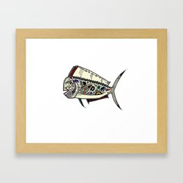 Mahi Mahi color Framed Art Print