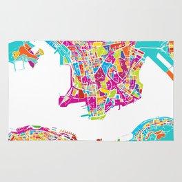 Hong Kong Colorful Map Rug