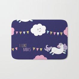 Cute unicorn pattern Bath Mat