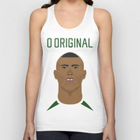 ronaldo Tank Tops featuring Ronaldo 2002 - O Original by Patrick Design