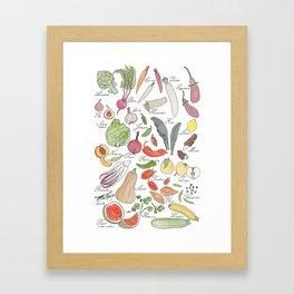 ABC fruit & vegetables Framed Art Print