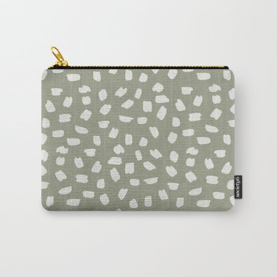 Simply Ink Splotch Lunar Gray on Green Tea Carry-All Pouch