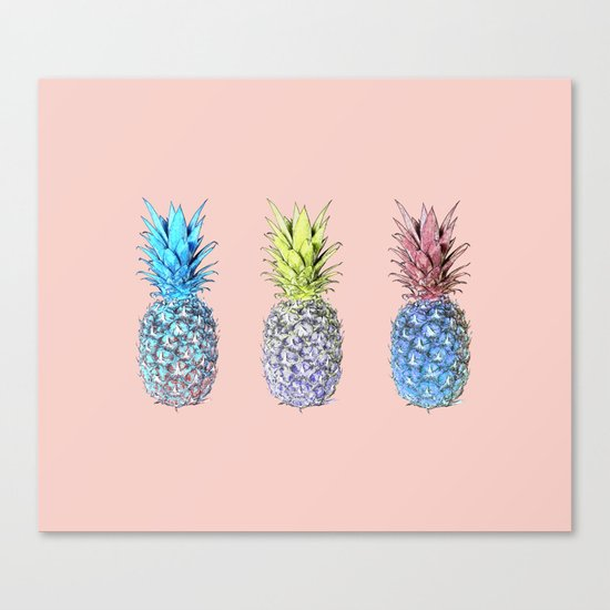 Haha pineapples Canvas Print
