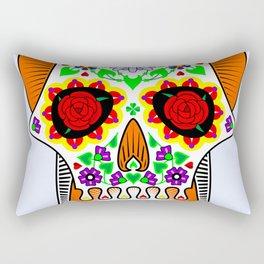 Day of the Dead skull Rectangular Pillow