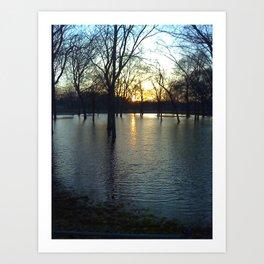 Indiana Water Art Print
